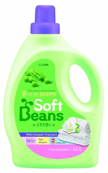 Кондиционер для белья CJ Lion Soft Beans, на основе экстракта зеленого гороха, 1,5 л