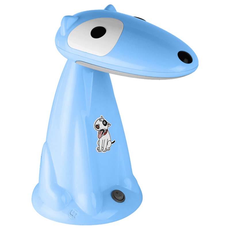 Настольный светильник Ultra LIGHT KT412C Собака 18Вт 220В КЛЛ Gx10q, голубой ultra light настольный светильник собака 18вт клл ultra light голубой