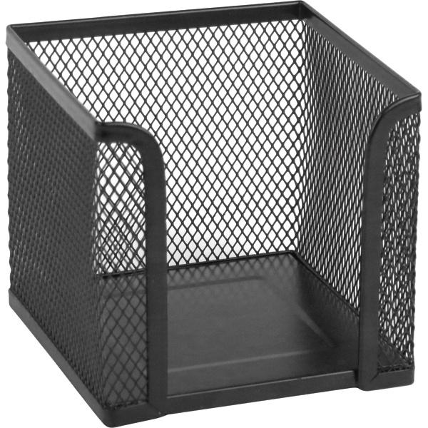 Лоток-куб для бумаг Axent 2112-01-A, металлический, цвет: черный, 100 х 100 x 100 мм лоток куб для бумаг axent 2112 03 a металлический цвет серебристый 100 х 100 x 100 мм