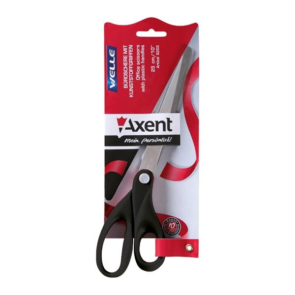 Ножницы Axent Welle, офисные, цвет: черный, длина 25 см