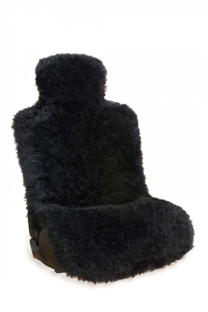 Накидка автомобильная Зигуля меховая, 71241Bl, черный