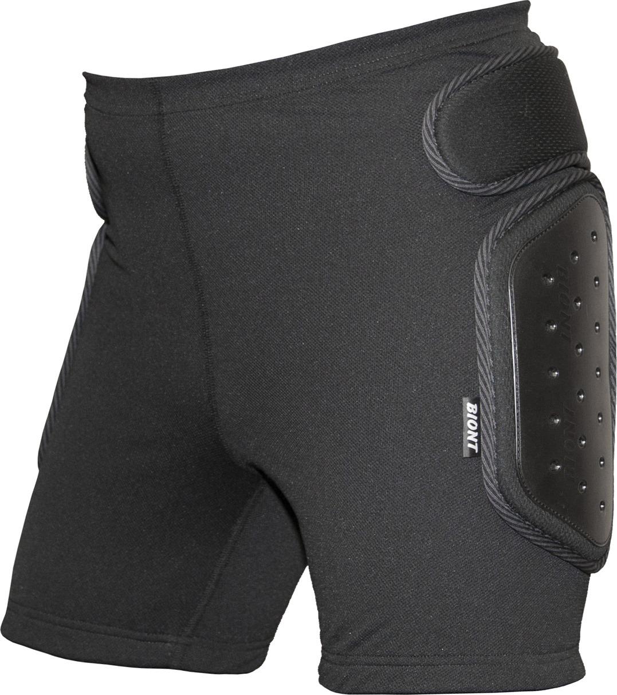 Защитные шорты Biont Экстрим, цвет: черный. Размер XXS (40/42)01040Защитные шорты с открытыми пластиковыми накладками на копчике и бедрах, из сетки с мелкой ячейкой. Мягкие накладки толщиной 8 мм, накладки с открытым пластиком на бедрах и копчике - 10 мм. Резинка на поясе имеет латексное покрытие, которое надежно фиксирует шорты на термобелье, не позволяя им спадать при любых видах активности. Защитные шорты Экстрим оптимально подходят сноубордистам, горнолыжникам-фристайлерам, роллерам, любителям маунтингбайка и мотоциклистам. Шорты будут надежной защитой копчика и бедер при катании на роликовых коньках и велосипеде. Пластиковые накладки в случае чего принимают на себя удар - об асфальт, землю либо лед и не дают повредиться шортам.