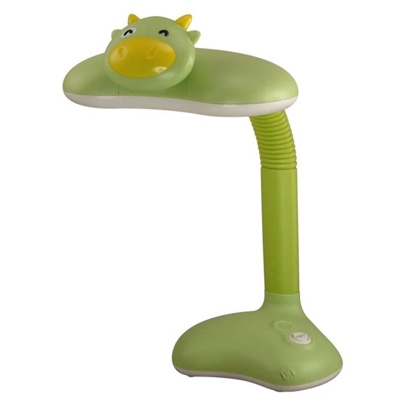 Настольный светильник+ночник Ultra LIGHT KT420A Корова 15Вт 220В КЛЛ+LED Gx10q, зелёный ultra light настольный светильник собака 18вт клл ultra light голубой