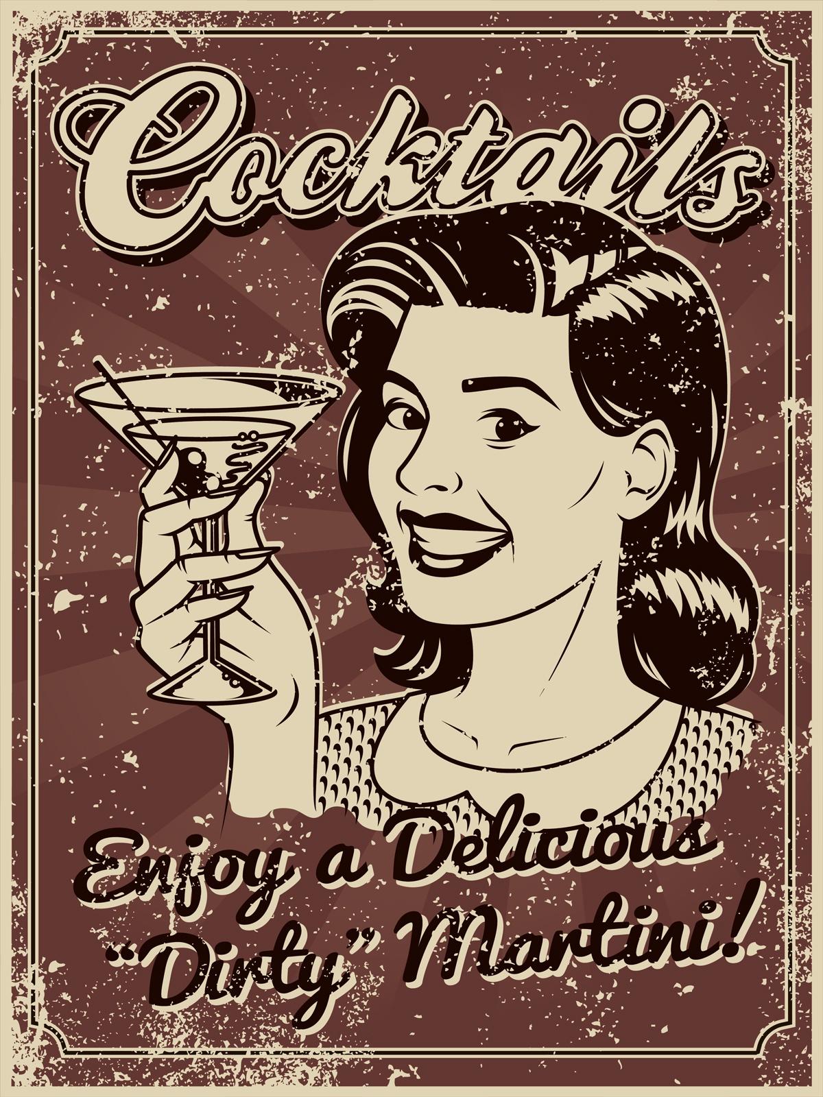 Картина Экорамка Cocktails lady, мдф, 30x40 см
