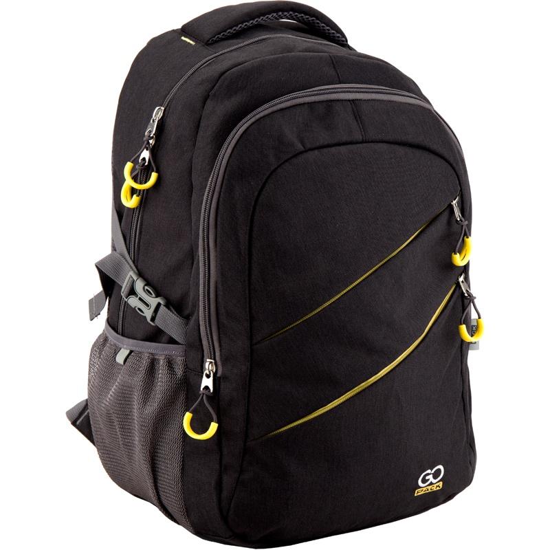 Рюкзак GoPack 110 GO-1 K18, цвет: черный, желтый gopack gopack рюкзак go 1 черный с желтым