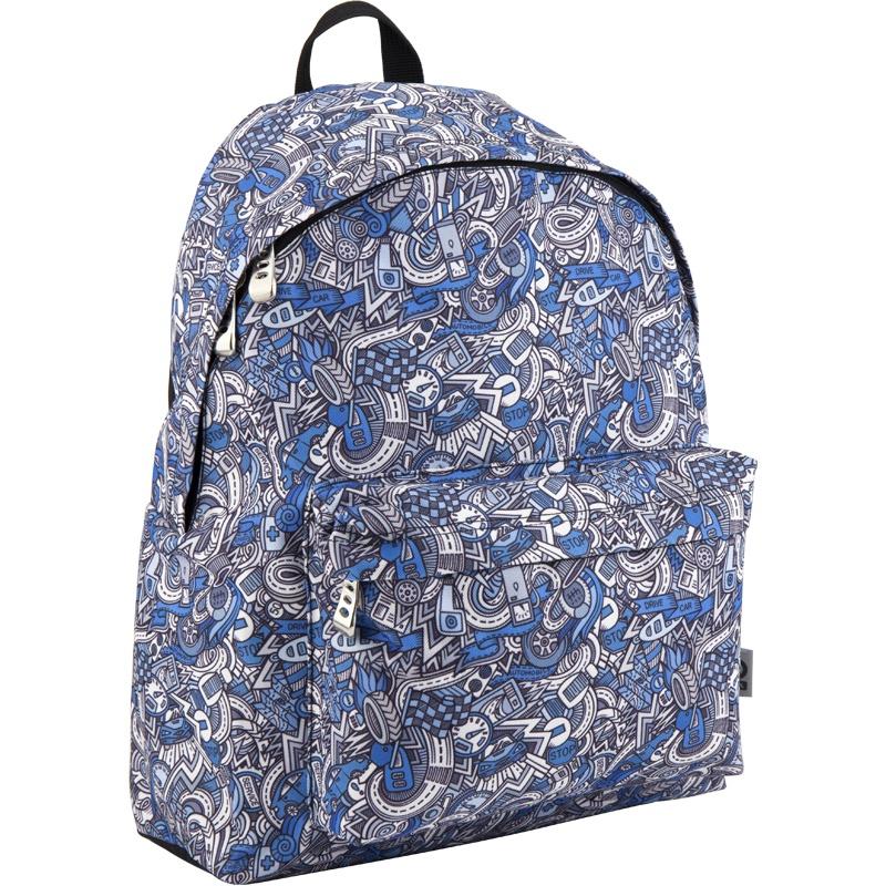 Рюкзак GoPack 112 GO-10 K18, цвет: синий, серый gopack gopack ранец школьный under construction синий