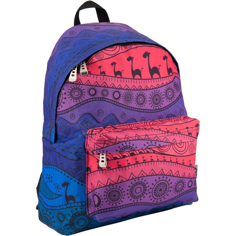 Рюкзак GoPack 112 GO-2 K18, цвет: синий, розовый gopack gopack ранец школьный under construction синий