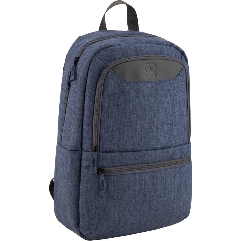 Рюкзак GoPack 119L GO-3, цвет: темно-синий меланж gopack gopack ранец школьный under construction синий