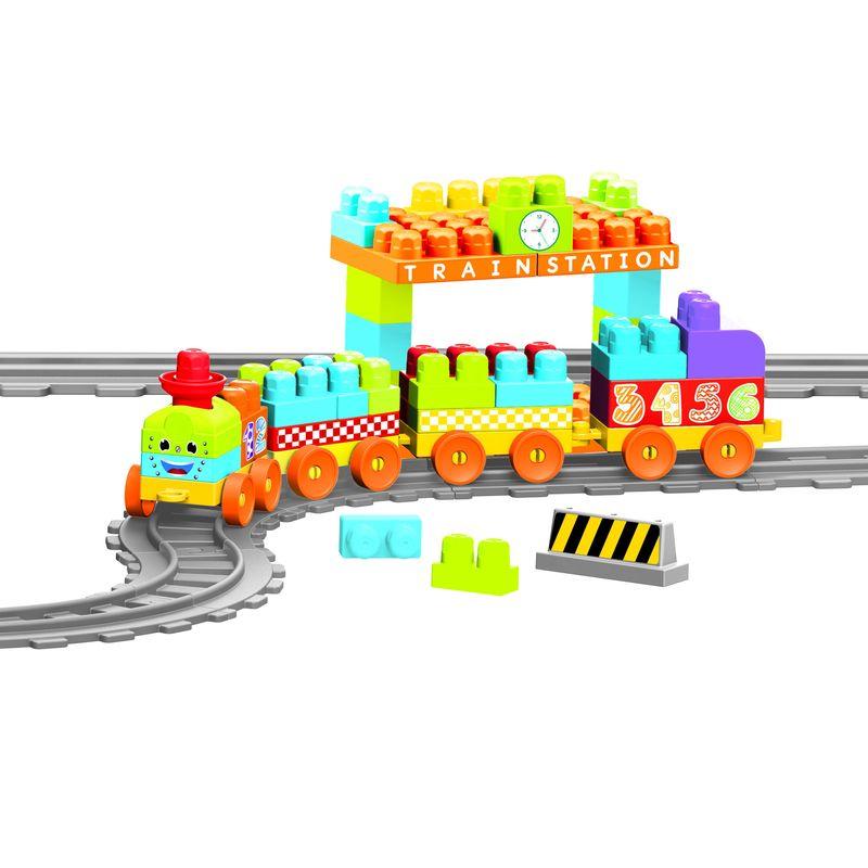 Игровой набор Dolu Моя первая железная дорога, с конструктором, 89 предметов, 335 см