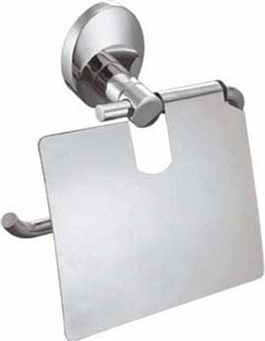 Держатель для туалетной бумаги Fixsen Europa, с крышкой, цвет: серебристый. FX-21810