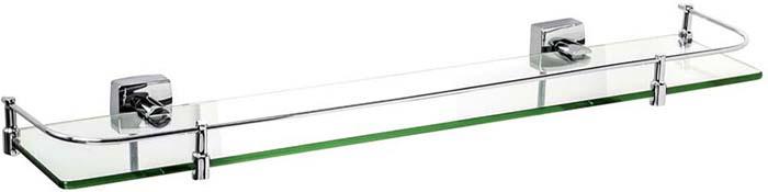 Полка для ванной комнаты Fixsen Kvadro, с ограничителем, цвет: серебристый. FX-61303B гардемарины iii
