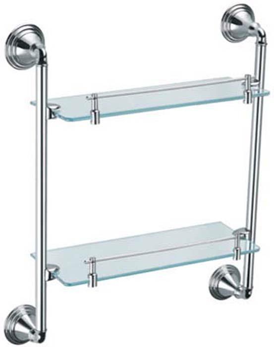 цена Полка для ванной комнаты Fixsen Best, 2-х этажная, цвет: серебристый. FX-71622 онлайн в 2017 году