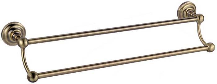 Держатель для полотенец Fixsen Retro, трубчатый, двойной, цвет: бронза. FX-83802FX-83802Серия FX-83800 «RETRO» Особенная коллекция. В этой серии собрались все лучшие находки в области дизайна и обработки металла. Добиться сохранения стиля позволяют форма и особенный окрас изделия. Покрытие из специального глянцевого лака придает неповторимый блеск на светлых участках и создает фактурный отблеск в темных линиях аксессуара. Применение технологии лакирования добавляет прочности и устойчивости покрытию. Обеспечение такой защиты улучшает эксплуатационные характеристики и сохраняет цвета сочными и яркими. Благодаря гладкой поверхности аксессуаров ухаживать за ними становиться проще. Отсутствие мелких пор позволяет легко и быстро очищать поверхность от загрязнений мягкой тканью без химических веществ.