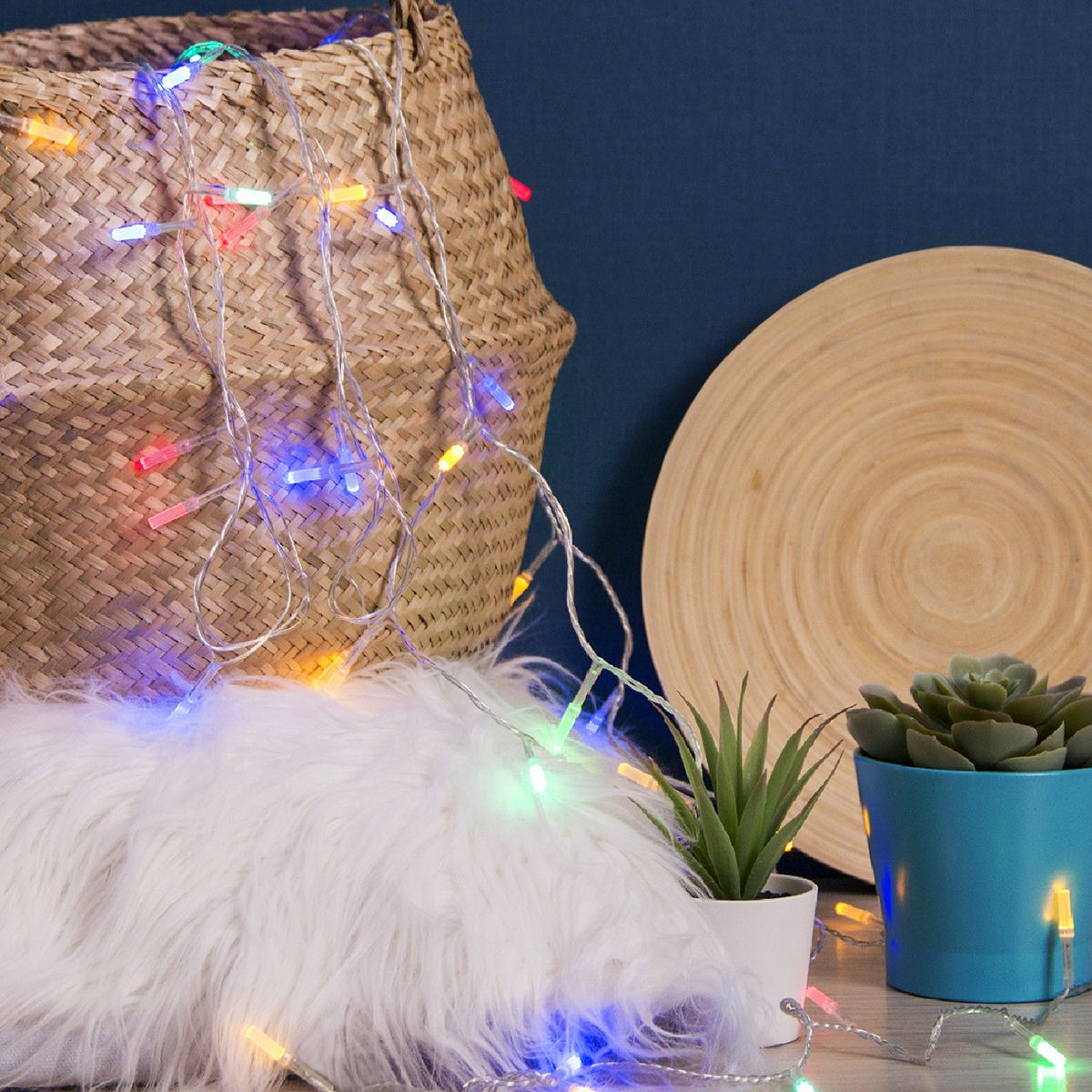 Гирлянда электрическая Luazon Lighting Нить. Звездочка, нить прозрачная, цвет: разноцветный, 50 LED, 220 V, 8 режимов, длина 5 м железная дорога shantou железная дорога 138 1 с 3 х лет b1493195