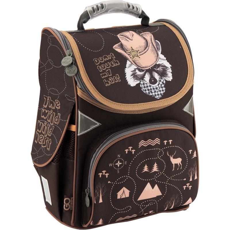 Рюкзак школьный каркасный GoPack 5001S-12 K18, цвет: черный gopack gopack ранец школьный under construction синий
