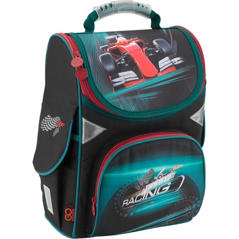 Рюкзак школьный каркасный GoPack 5001S-14 K18, цвет: черный gopack gopack ранец школьный under construction синий