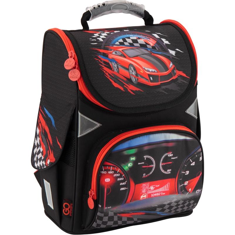 Рюкзак школьный каркасный GoPack 5001S-17 K18, цвет: черный gopack gopack ранец школьный under construction синий