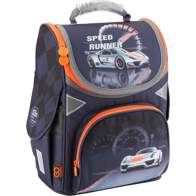Рюкзак школьный каркасный GoPack 5001S-19 K18, цвет: черный gopack gopack ранец школьный under construction синий