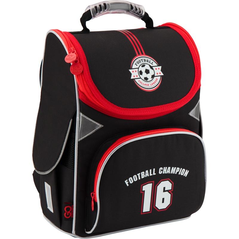 Рюкзак школьный каркасный GoPack 5001S-20 K18, цвет: черный gopack gopack ранец школьный under construction синий