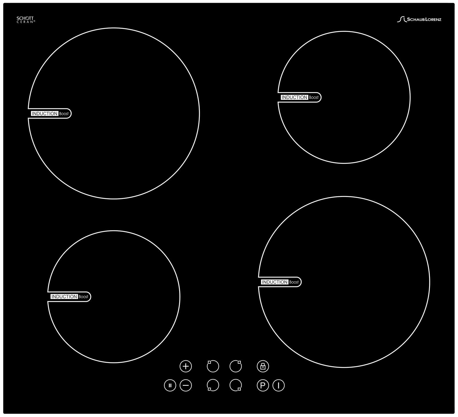 Варочная поверхность Schaub Lorenz SLK IY6TC0 электрическая, цвет черный