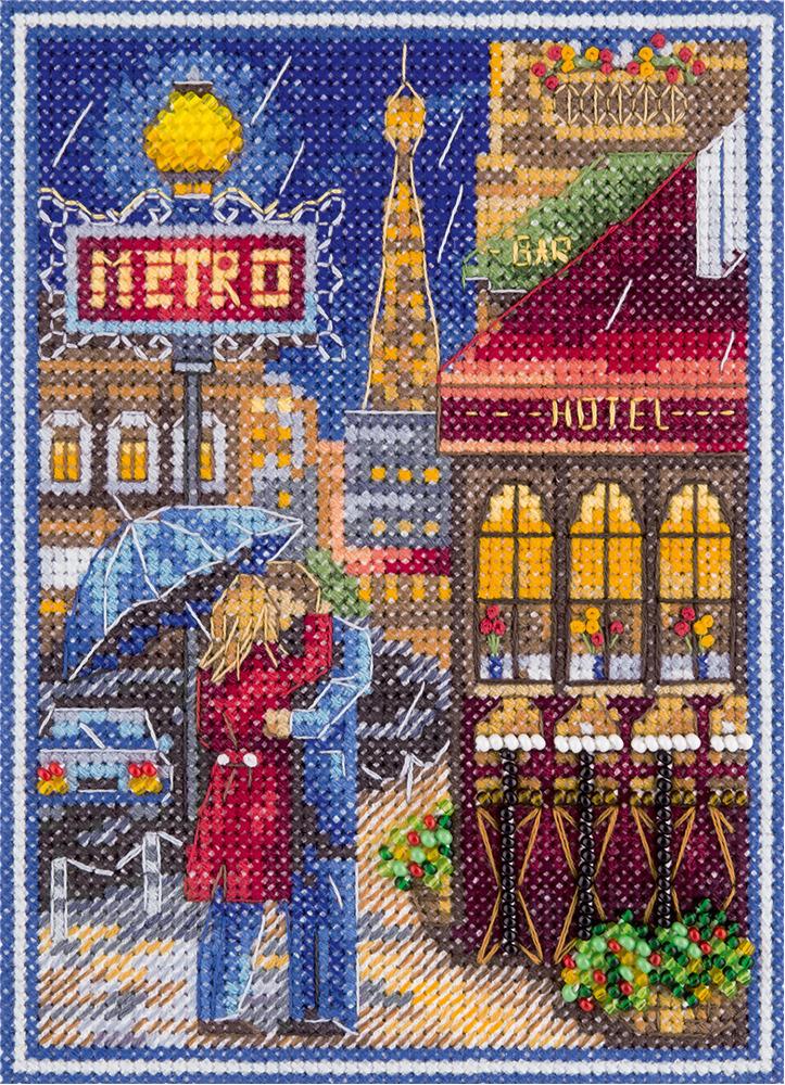 Набор для вышивания Panna Свидание у метро, 11 х 14,5 см panna набор для вышивания panna бэкстич свидание 23х20 см