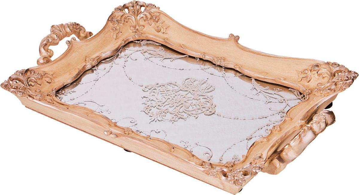 Поднос Lefard, цвет: бронзовый, 32,5 х 3,5 х 21 см поднос декоративный rosanna classy