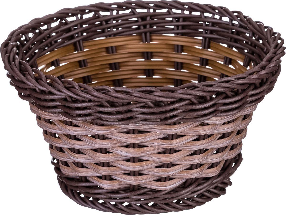 цена Корзина для мелочей Lefard, цвет: коричневый, 16 х 9 см. HP121-W онлайн в 2017 году