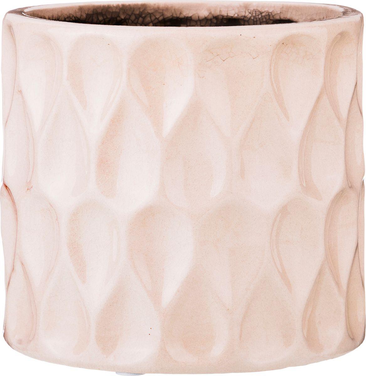 Кашпо Lefard, кремовый, 14 х 14 х 13 см кашпо lefard цвет розовый 14 х 14 х 13 см