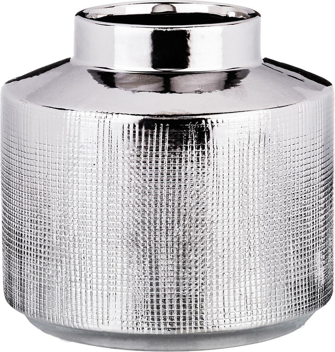 Ваза Lefard, цвет: серебристый, 13 х 13 х 12 см ваза lefard diamantes 64 291 белый 12 х 12 х 24 см
