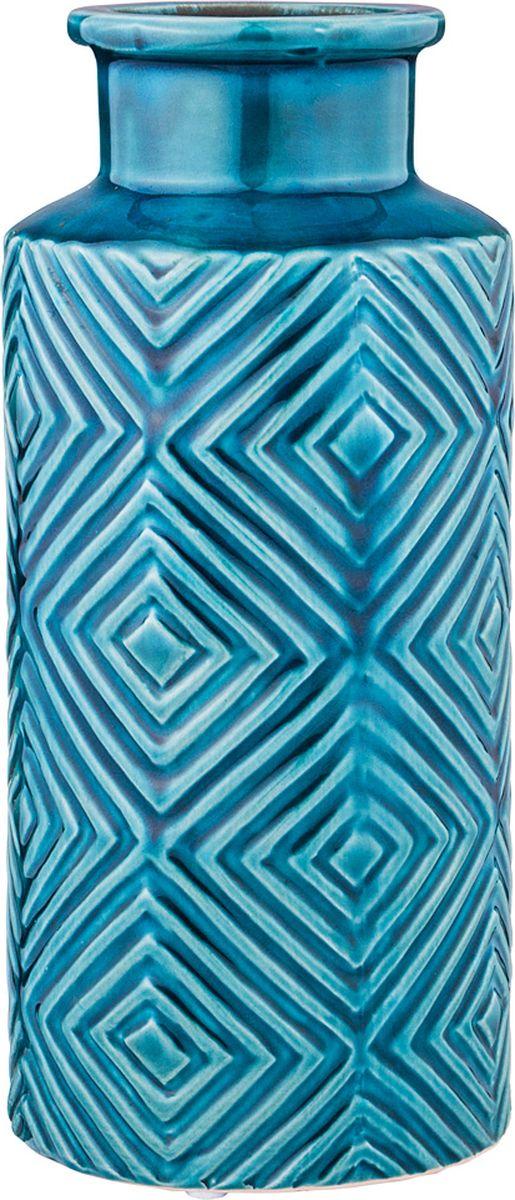 Ваза Lefard, цвет: голубой, 12,5 х 12,5 х 28 см ваза lefard восточный кувшин 114 352 21 5 х 21 х 53 см