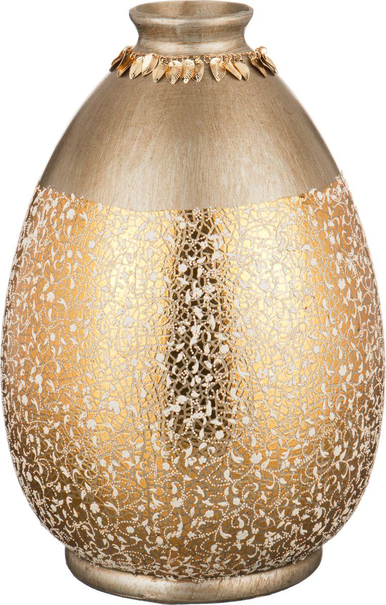 Ваза Lefard Матовый блеск, цвет: золотистый, высота 36 см ваза nina glass грейси цвет оранжевый высота 19 см