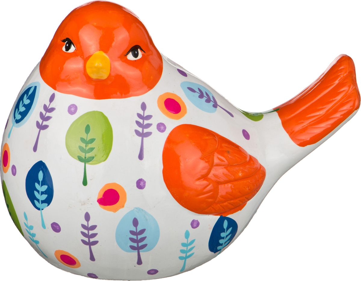 Копилка Lefard Птичка, цвет: разноцветный, 18,5 х 13 х 14,5 см. WD22078-7.2A картина птичка 30х30 см