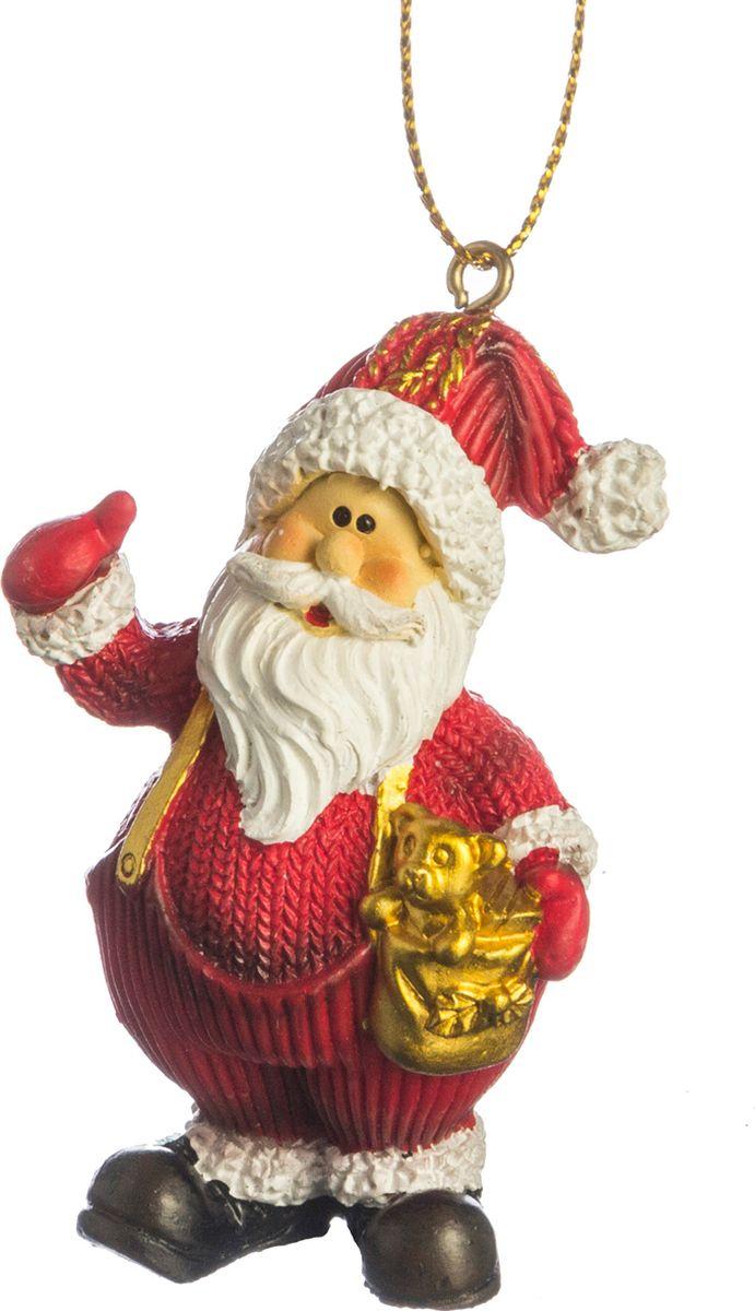 Подвесное украшение Lefard Дед Мороз, 4,5 х 3 х 6,5 см. HSS983149 B подвесное украшение lefard сапог цвет белый красный 7 х 5 х 7 5 см 9f3046b1 b2 b