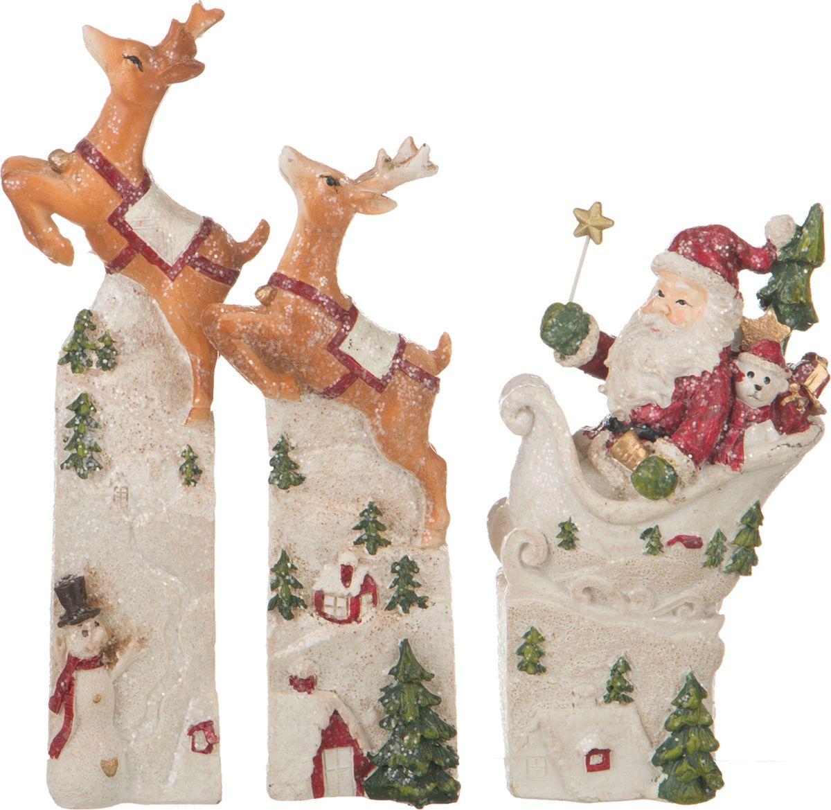 Набор праздничных фигурок Lefard Рождество, 3 шт. BH0785441S набор сундучков roura decoracion 3 шт 34783