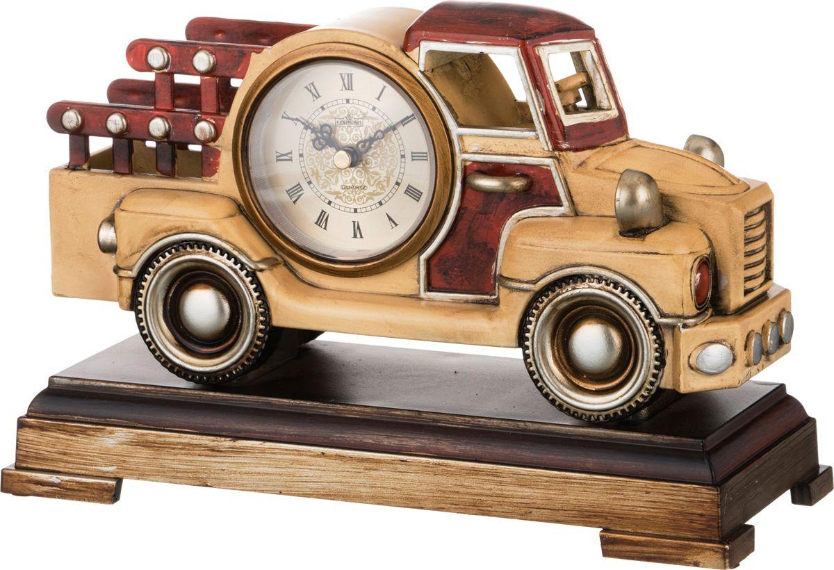 Часы настольные Lefard Грузовик, кварцевые, цвет: разноцветный, 28 х 11,5 х 18 см грузовик orion самосвал и шары 38 5 см разноцветный 471в2