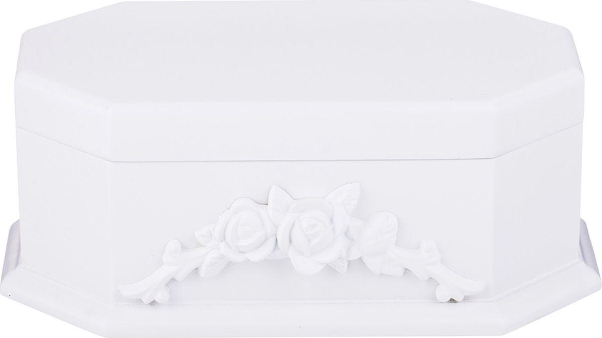 Фото - Шкатулка для украшений Lefard, с зеркалом, цвет: белый, 24,5 х 15,5 х 9,5 см. WY17093W шкатулка с фоторамкой lefard happy kid 222 711