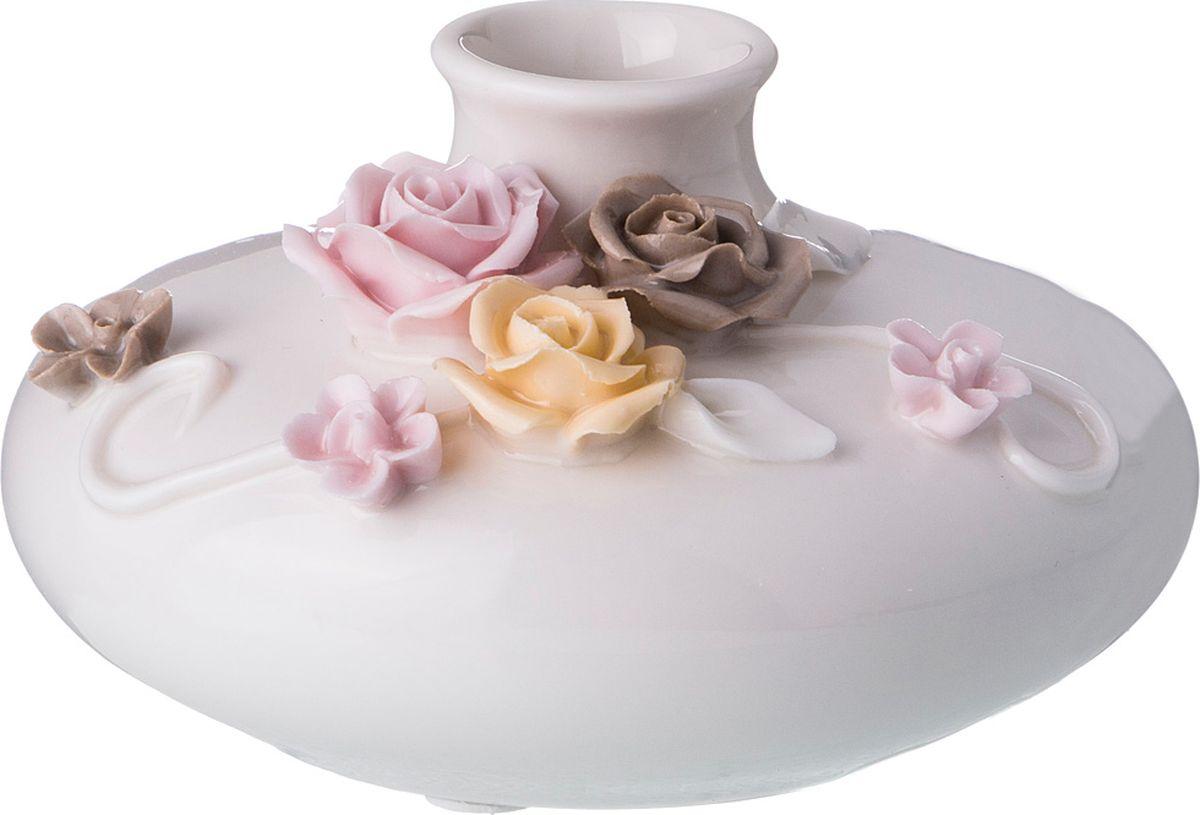 Ваза Lefard Аромат любви, цвет: розовый, 12 х 12 х 7 см ваза lefard diamantes 64 291 белый 12 х 12 х 24 см