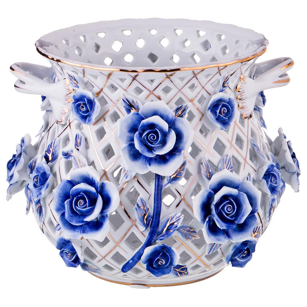 Ваза Lefard, цвет: разноцветный, высота 17 см. K22W259 ваза nina glass грейси цвет оранжевый высота 19 см