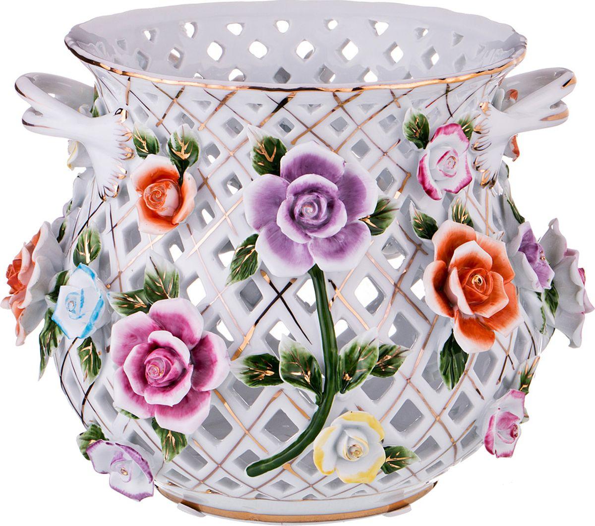 Ваза Lefard, цвет: разноцветный, высота 17 см. K26F077W ваза nina glass грейси цвет оранжевый высота 19 см