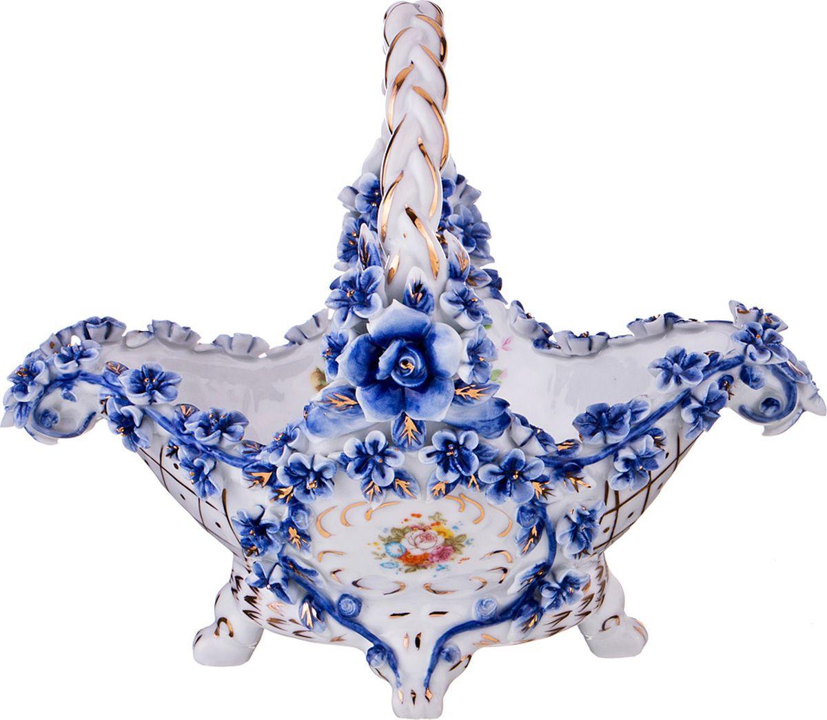 Ваза Lefard, цвет: разноцветный, высота 18 см ваза nina glass грейси цвет оранжевый высота 19 см