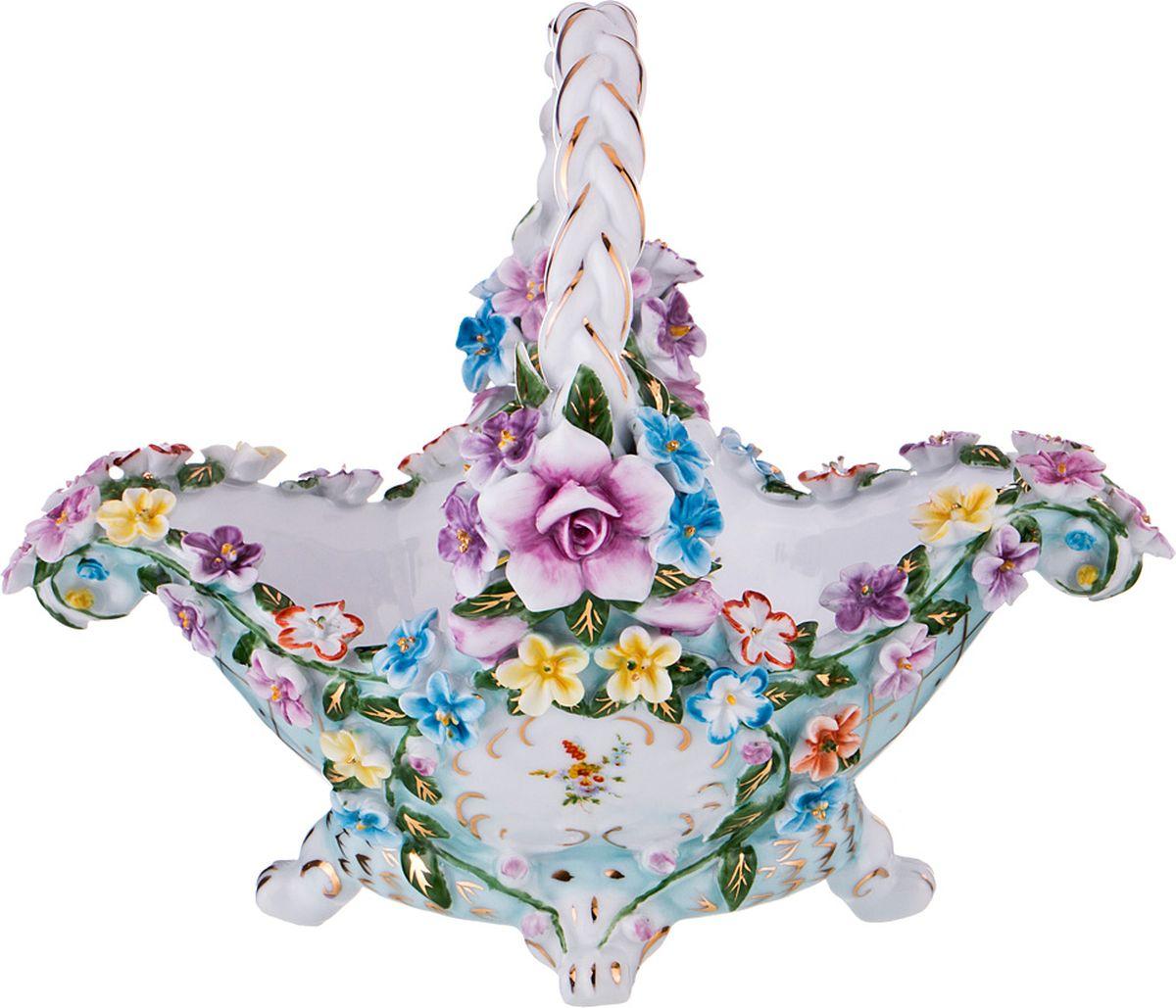 Ваза Lefard, цвет: разноцветный, высота 16 см ваза nina glass грейси цвет оранжевый высота 19 см