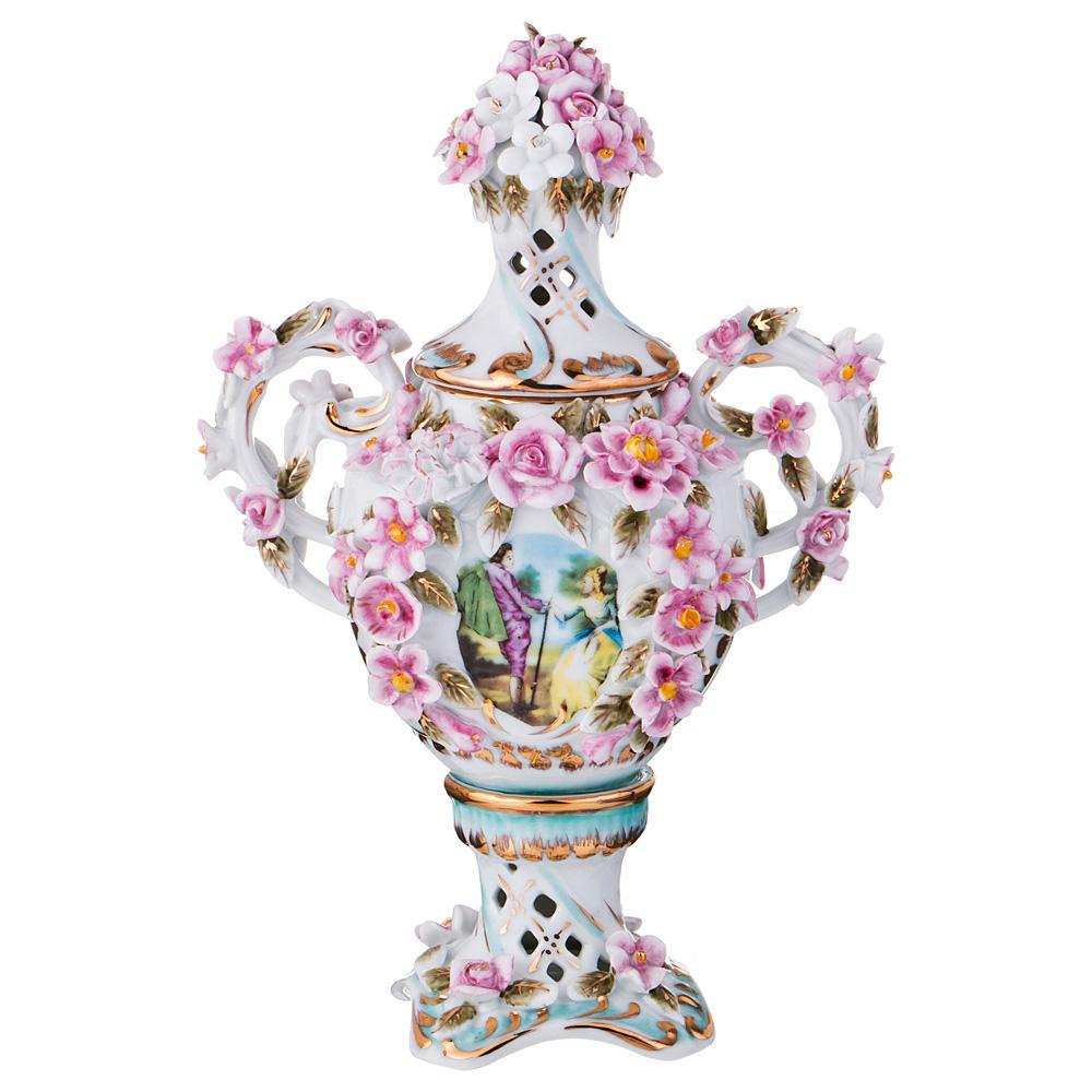 Ваза Lefard, цвет: разноцветный, высота 22 см. K15W055 ваза nina glass грейси цвет оранжевый высота 19 см
