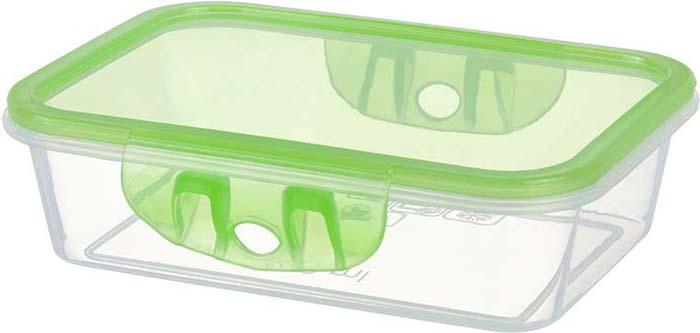 Контейнер пищевой Violet, цвет: прозрачный, зеленый, 500 мл. 811265811265Пластиковые герметичные контейнеры для хранения продуктов произведены в России из высококачественных материалов, термоустойчивы, могут быть использованы в микроволновой печи и в морозильной камере, устойчивы к воздействию масел и жиров, не впитывают запах. Удобны в использовании, долговечны, легко открываются и закрываются, не занимают много места, можно мыть в посудомоечной машине.