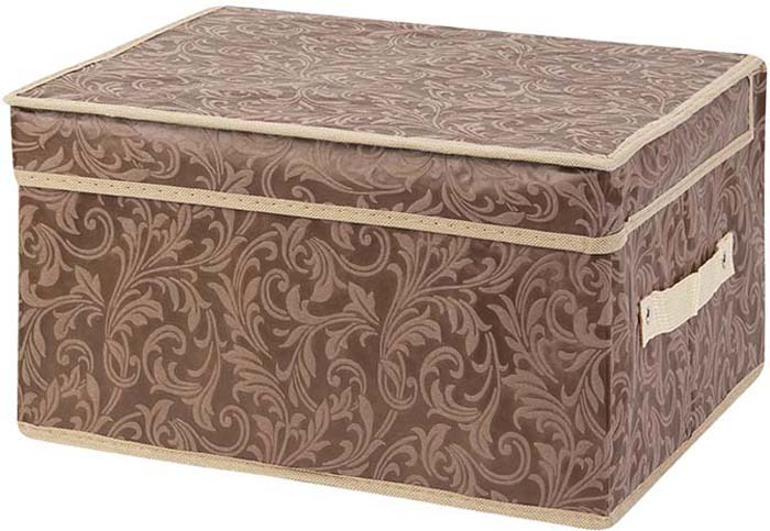 цена Кофр для хранения вещей EL Casa, складной, цвет: коричневый, 35 х 30 х 20 см. 37095 онлайн в 2017 году