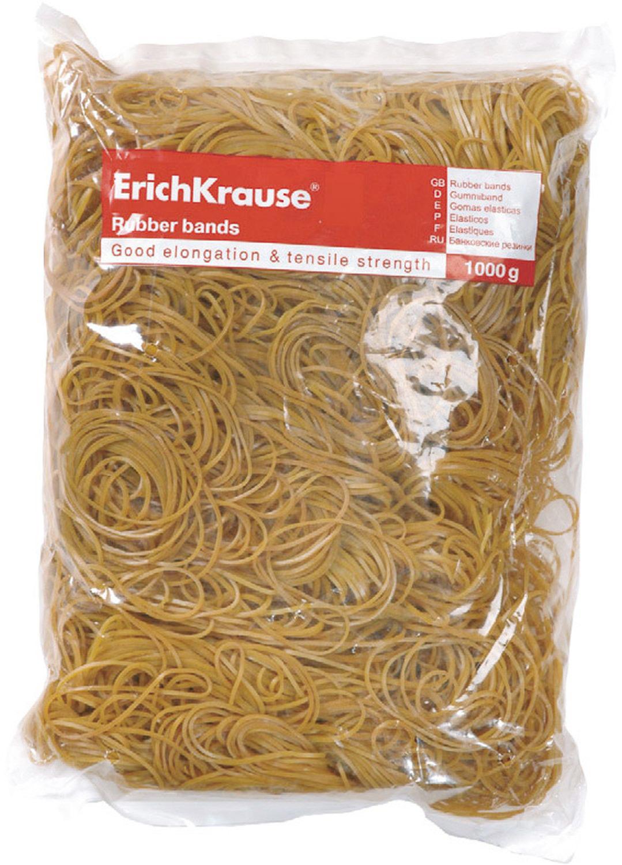 Резинка банковская Erich Krause, 60, 80, 100 мм, цвет: бежевый, 1 кг