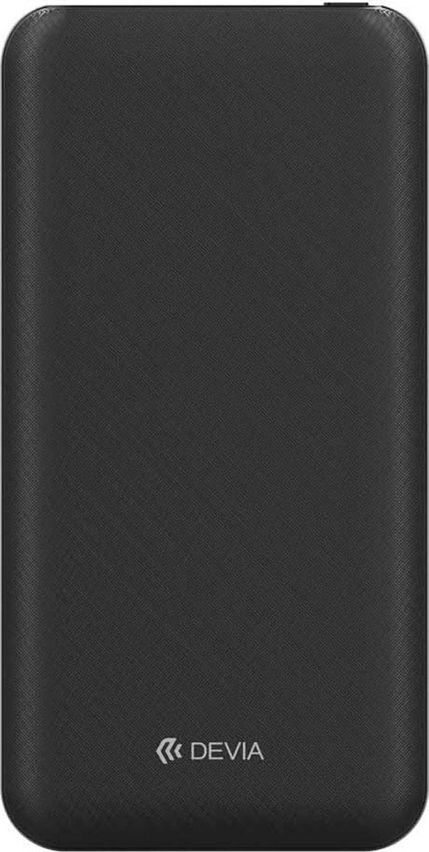 Внешний аккумулятор Devia Smart, 10000 mAh, цвет: чёрный цена