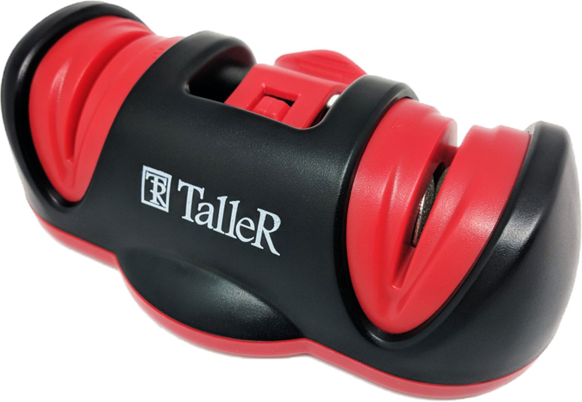 Точилка для ножей Taller, цвет: черный, красный. TR-2507 точилка для ножей virtus 2 х этапная nd 079