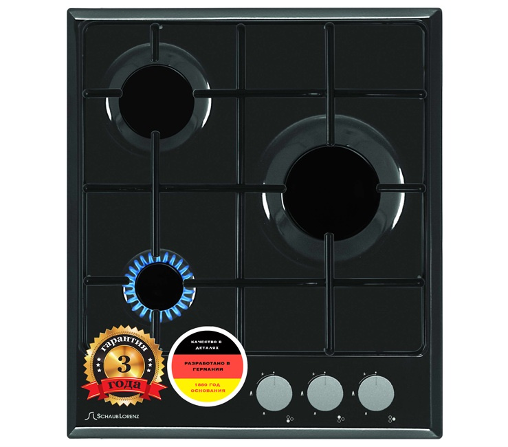 Варочная поверхность газовая Schaub Lorenz, цвет:  черный.  SLK GS4010