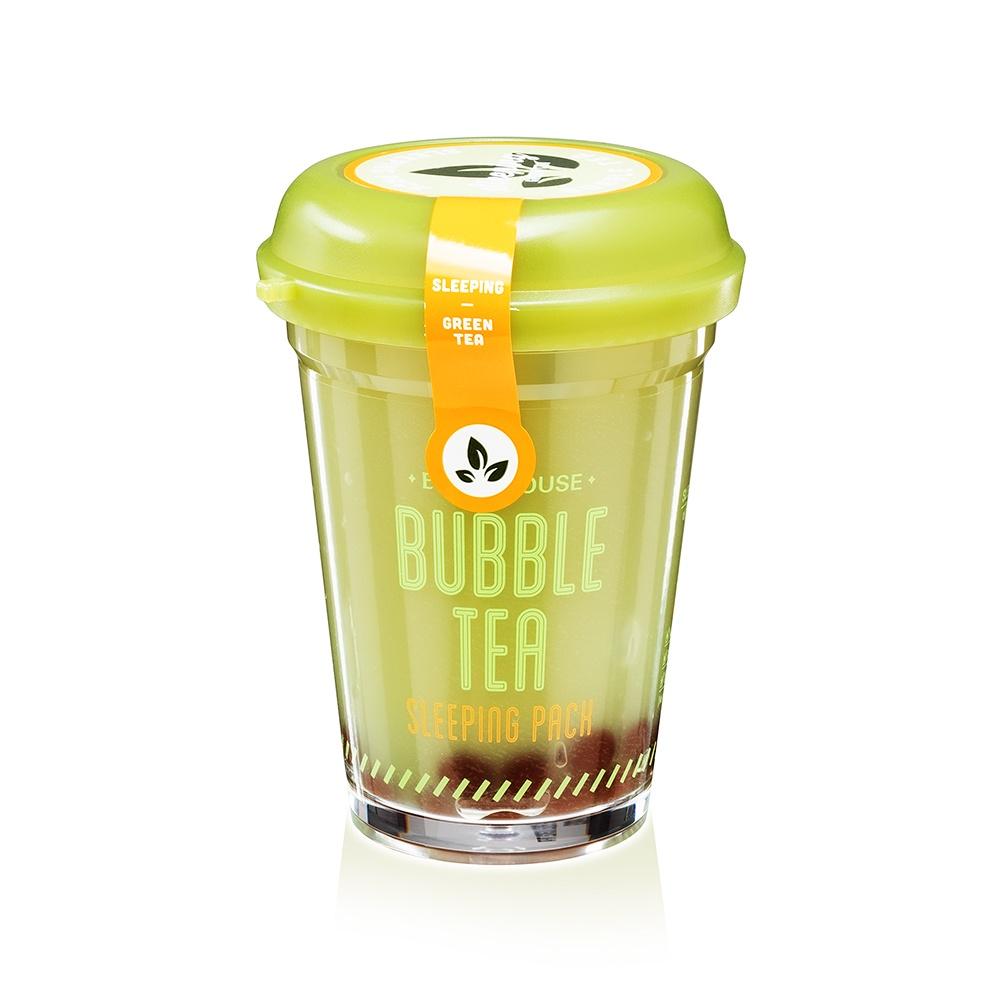 Ночная маска Etude House Bubble Tea Sleeping Pack, с экстрактом зеленого чая, 100 мл цена