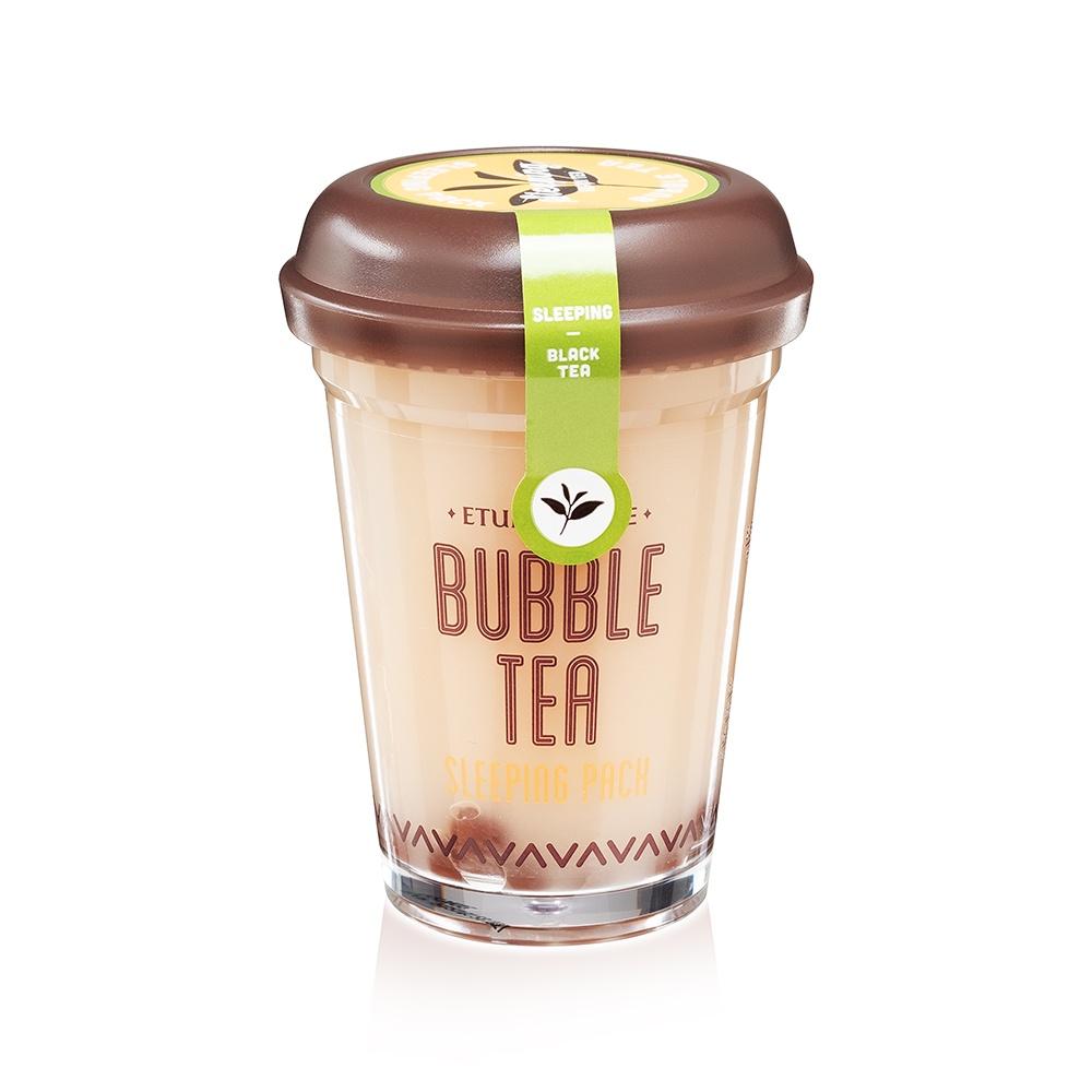 Ночная маска Etude House Bubble Tea Sleeping Pack, с экстрактом черного чая, 100 мл цена